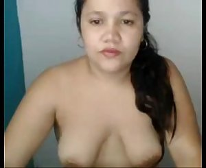 Chubby asian with saggy tits and big areolas from 720cams.com