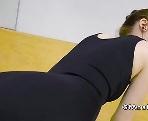 Ballerina anal fucked at the gym