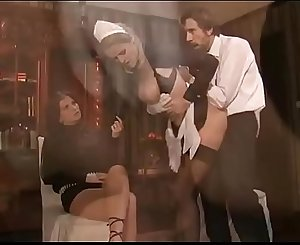 2 maid servant anal hook-up orgy
