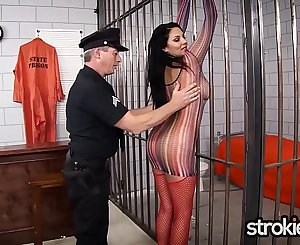 Missy Martinez arrested and jerks cops cock with cumshot on her big tits