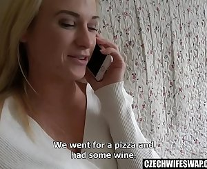 Fledgling Swapped Blonde Persuaded for Morning Hookup
