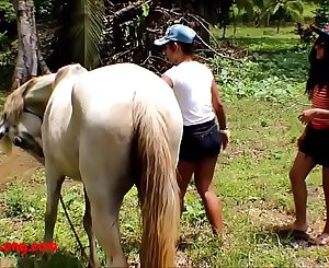 Real amateur teens heather deep and girlfriend LOVE Pony COCK