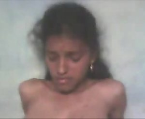 Tamil Schoolgirl Demonstrating her Young Boobs and Hairy Pussy